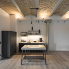 Concrete design - Kitchen-cum-living room